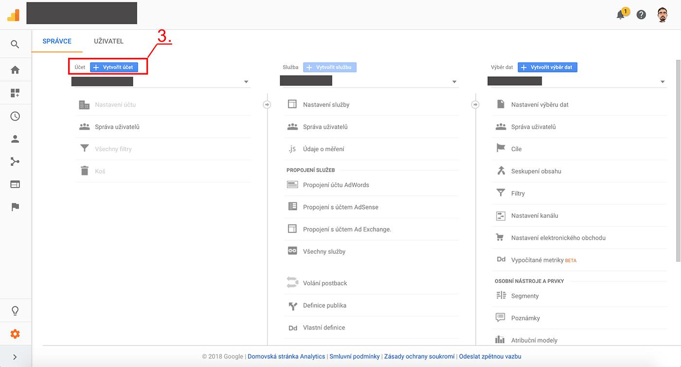 Nastavení Google Analytics 2