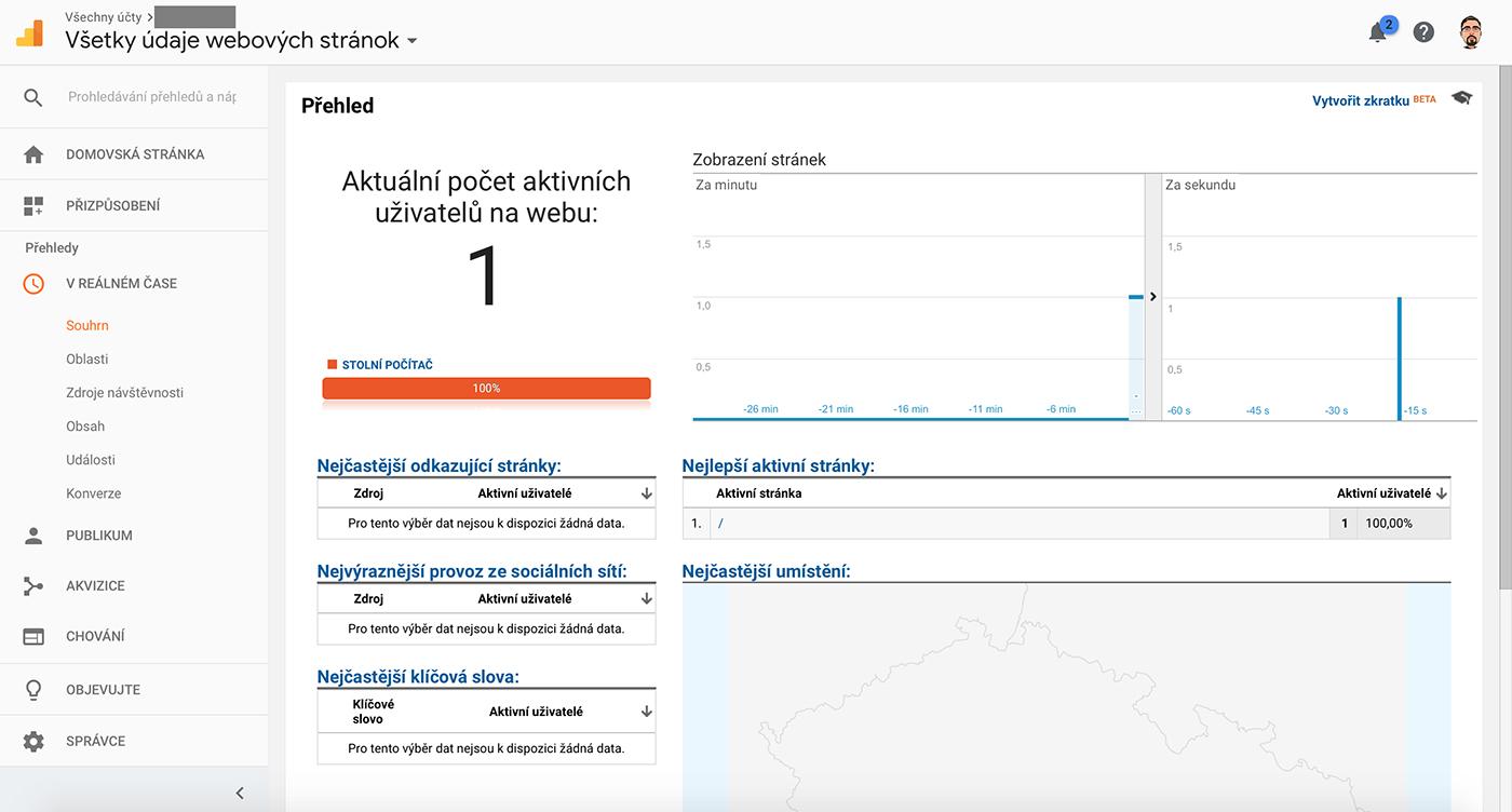 Nastavení Google Analytics 5