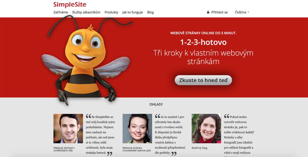 SimpleSite.com WYSIWYG editor webových stránek