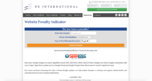 FE International Website Penalty Indicator