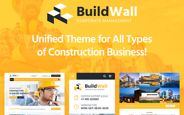 WordPress šablona BuildWall
