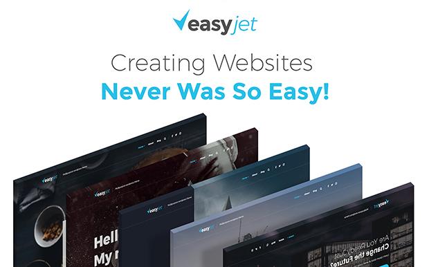 WordPress šablona EasyJet