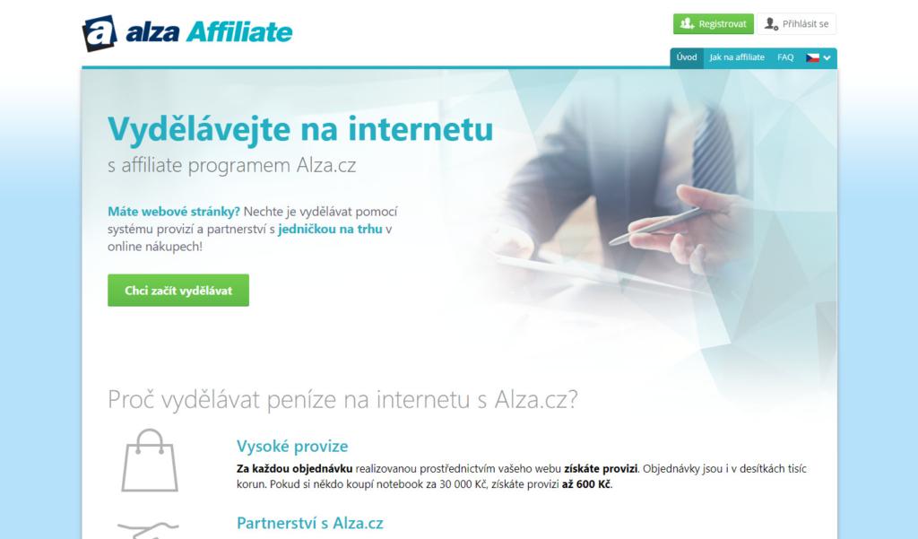 Affiliate síť Alza.cz