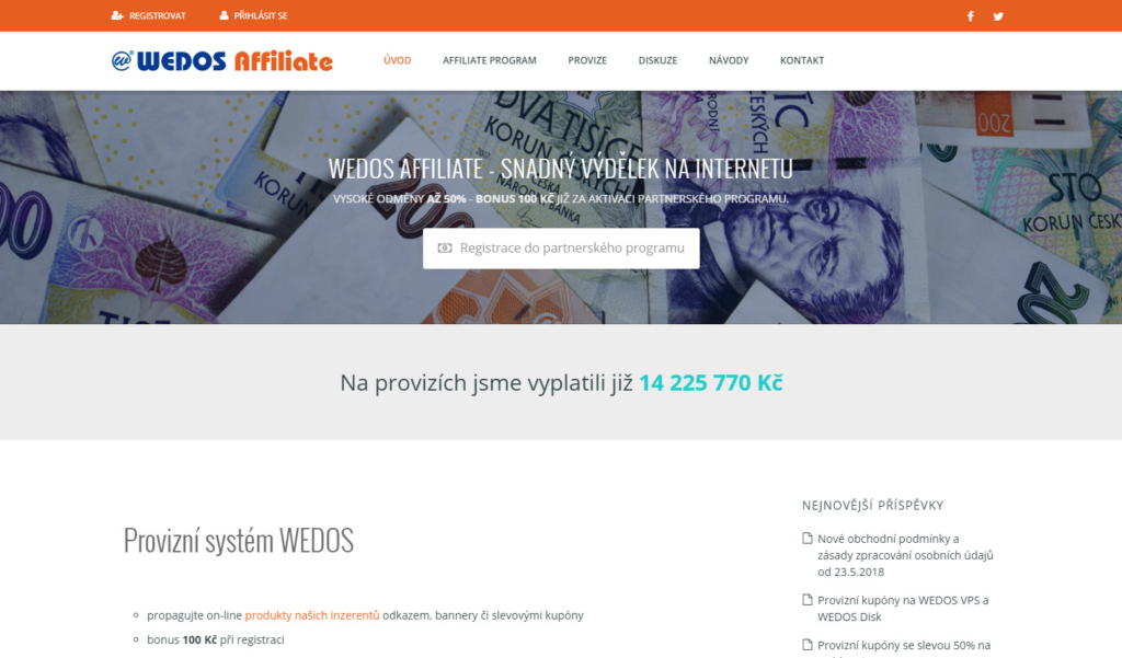 Affiliate síť Wedos.as