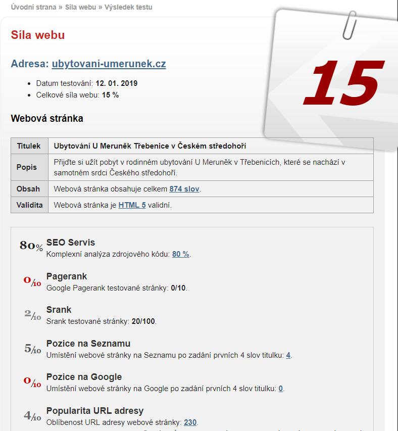 SEO test Seo-Servis.cz