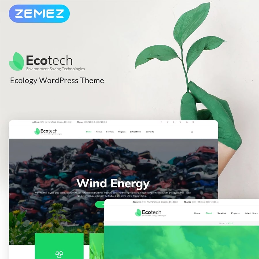 WordPress šablona EcoTech