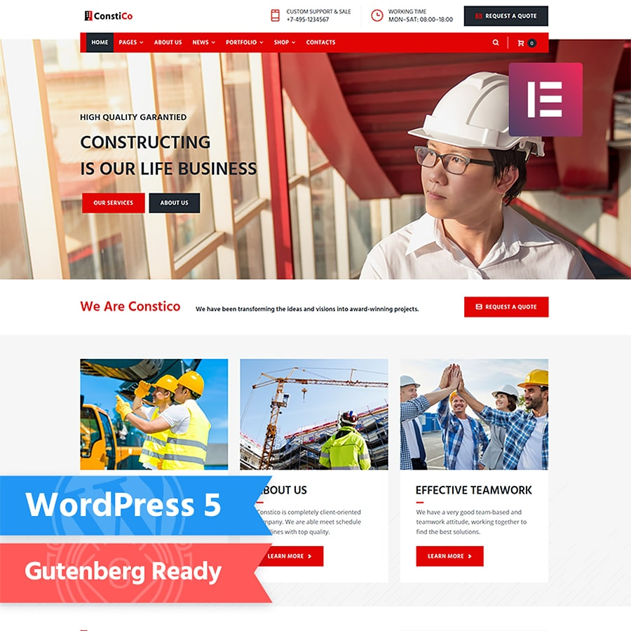 WordPress šablona Constico