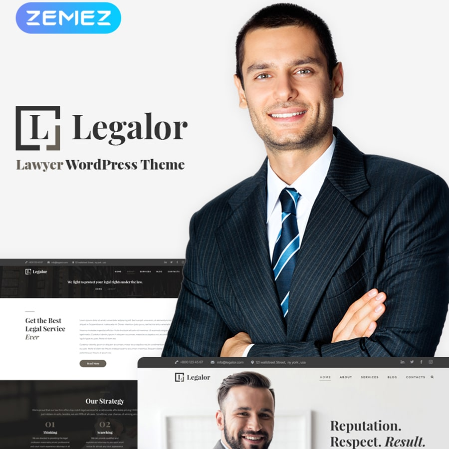 WordPress šablona Legalor