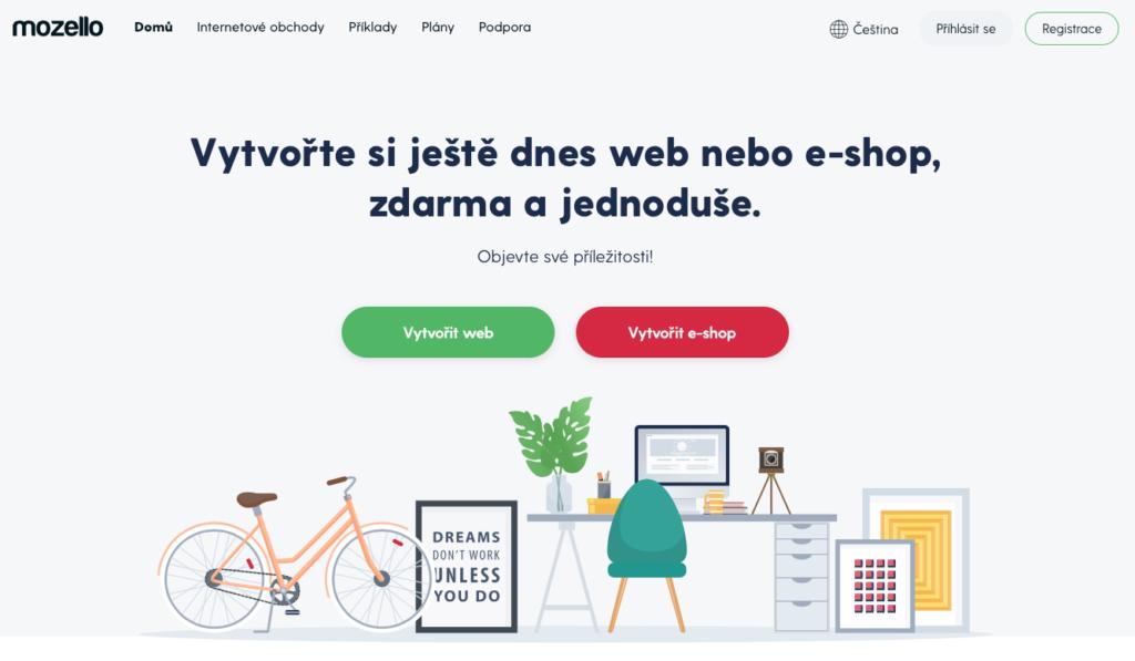 Mozello.cz WYSIWYG editor webových stránek