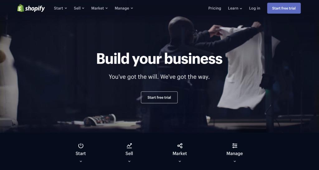 Shopify.com WYSIWYG editor webových stránek