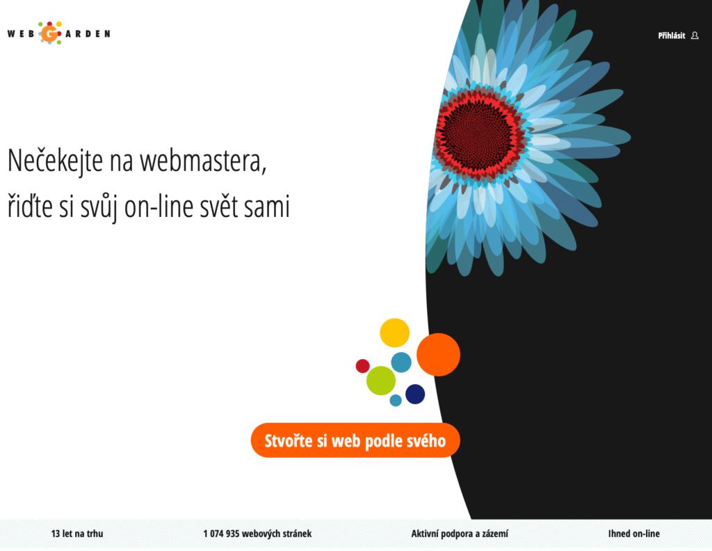 Webgarden.cz WYSIWYG editor webových stránek