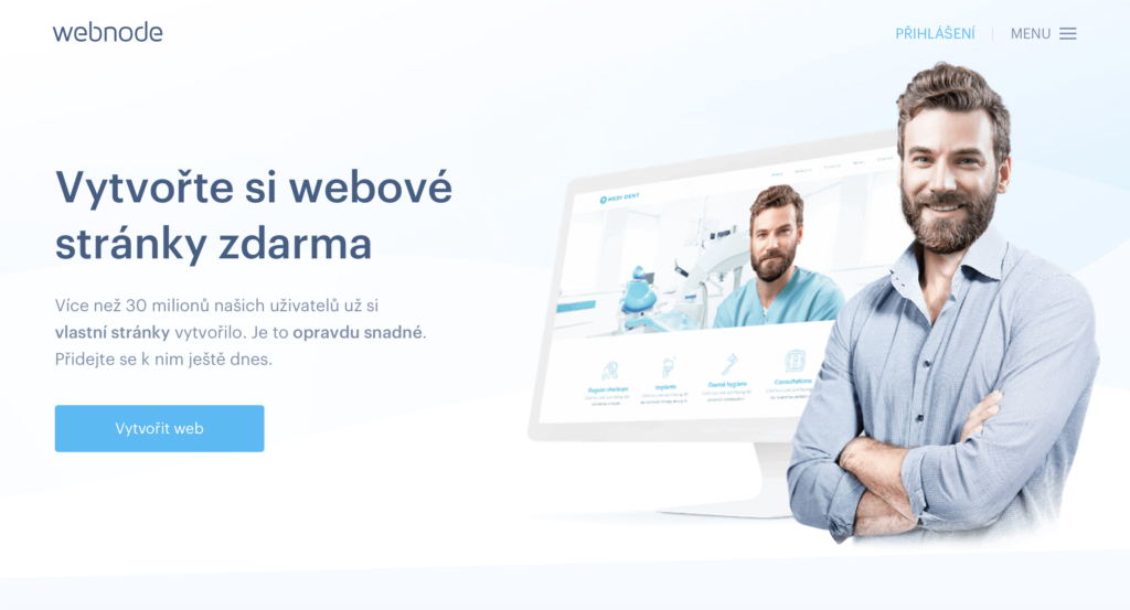 Webnode.cz WYSIWYG editor webových stránek