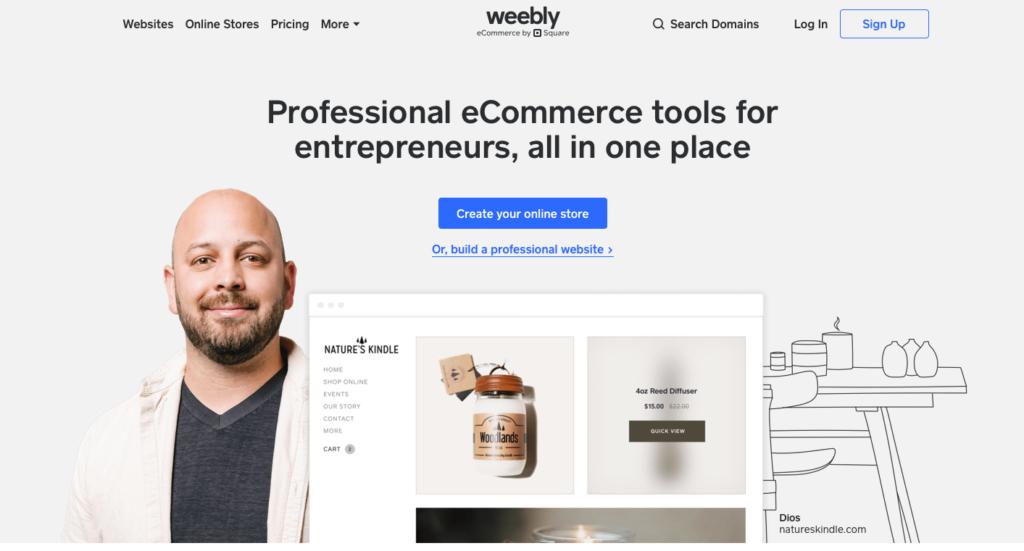 Weebly.com WYSIWYG editor webových stránek