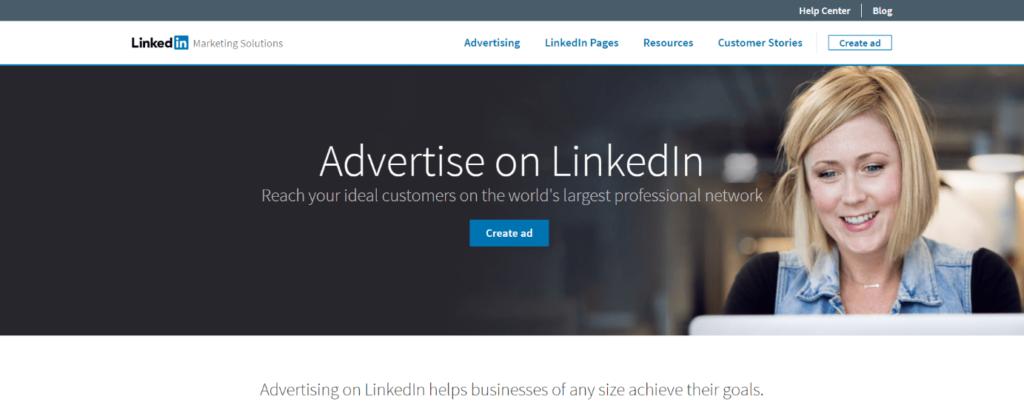 Reklama na LinkedInu