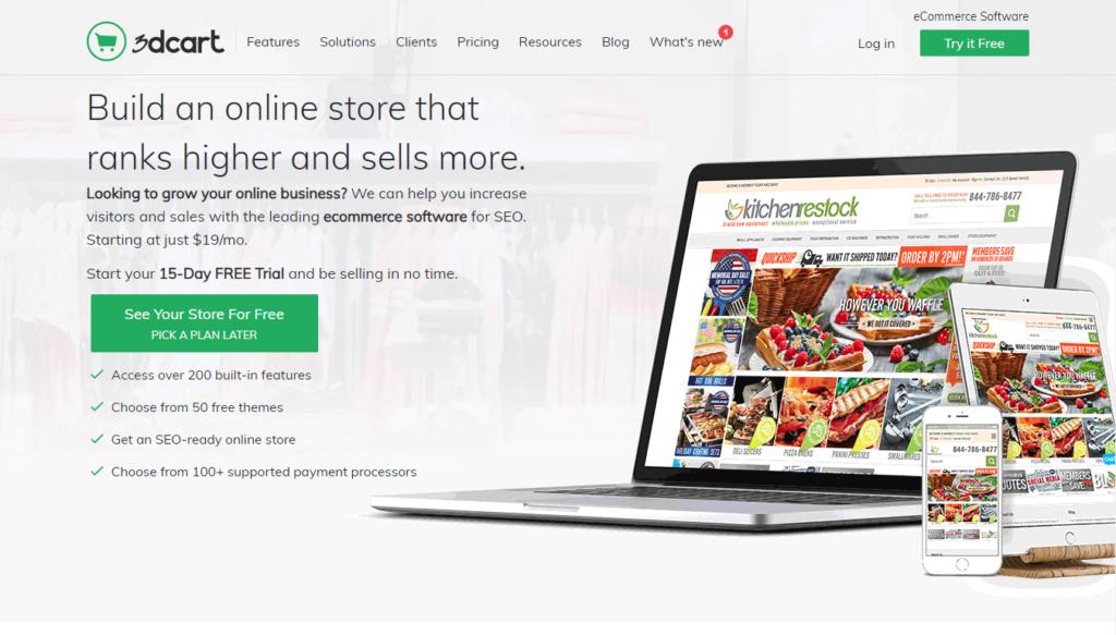 E-shopová platforma 3dcart.com