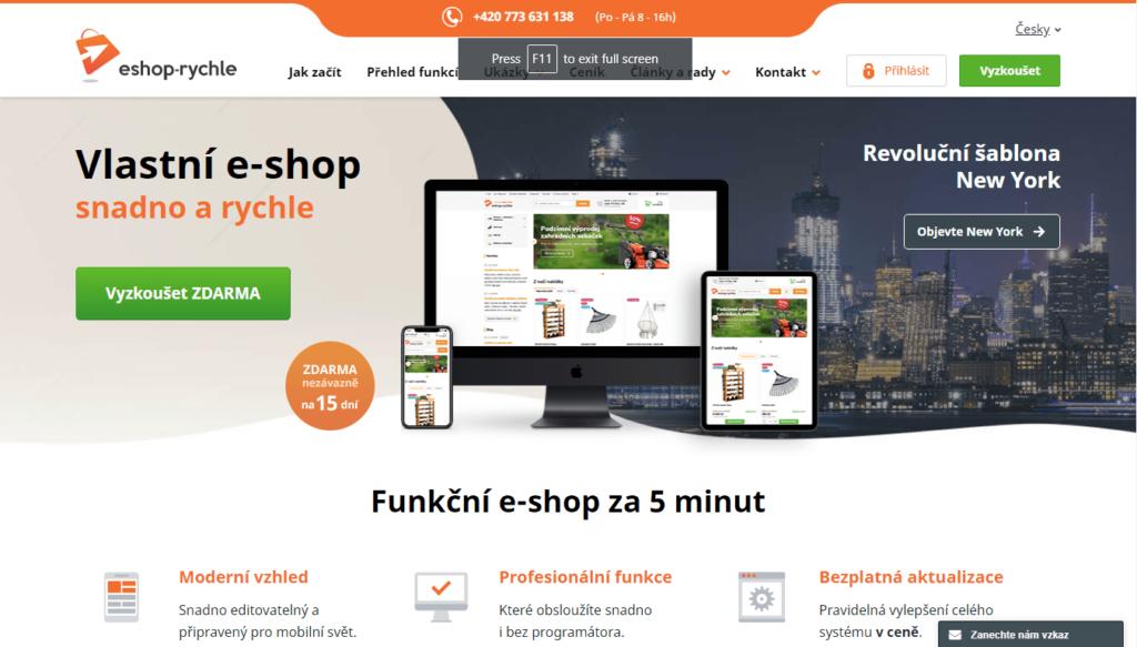 E-shopová platforma eshop-rychle.cz