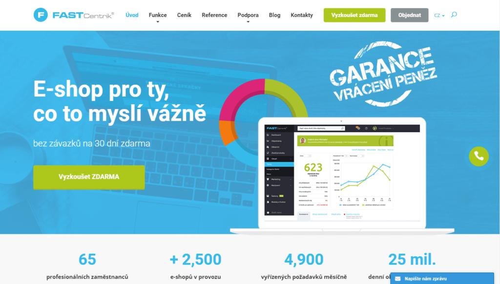 E-shopová platforma fastcentrik.cz