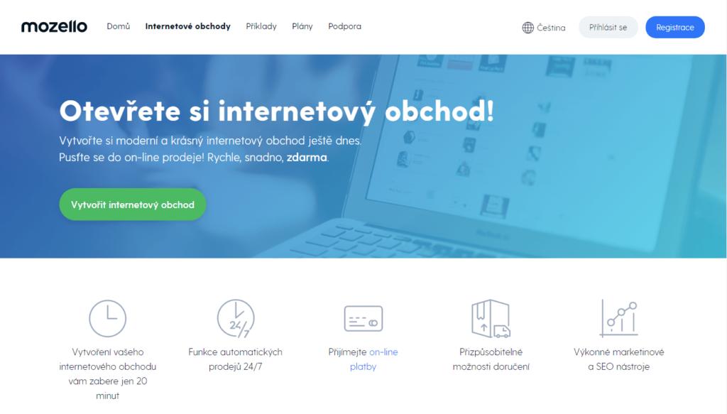 E-shopová platforma mozello.cz
