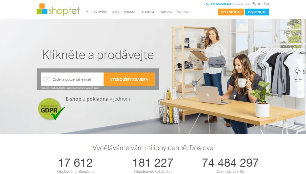 E-shopová platforma shoptet.cz