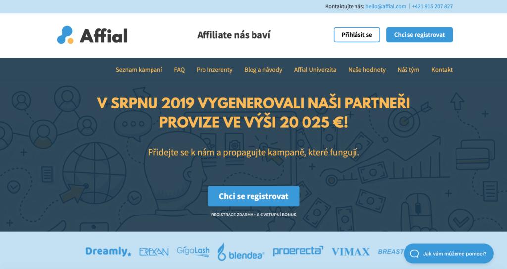 Affiliate síť Affial.com