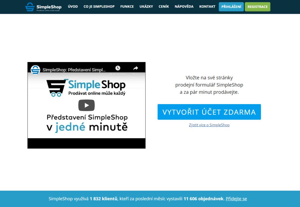 E-shopová platforma SimpleShop.cz
