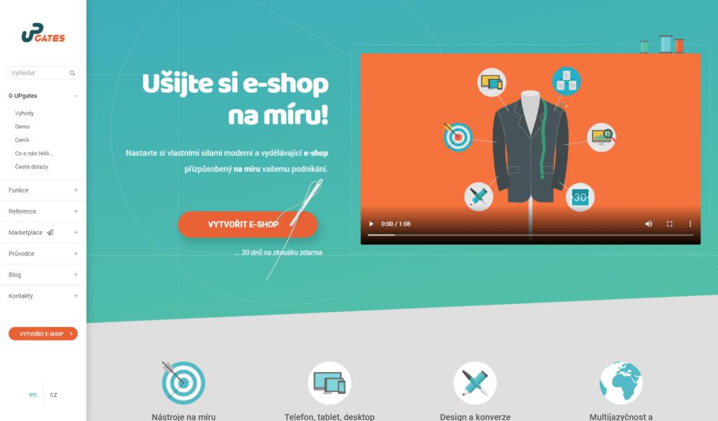 E-shopová platforma UPgates.cz