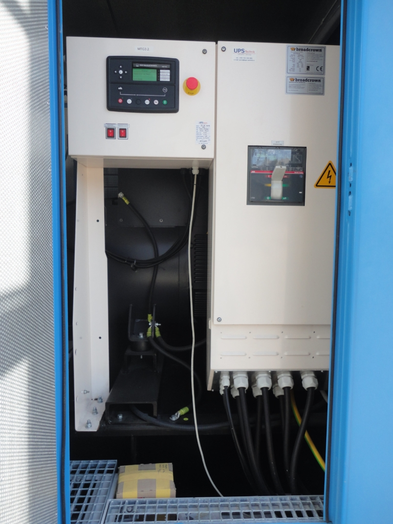 Generátorová část dieselgenerátoru datacentra MasterDC v Brně