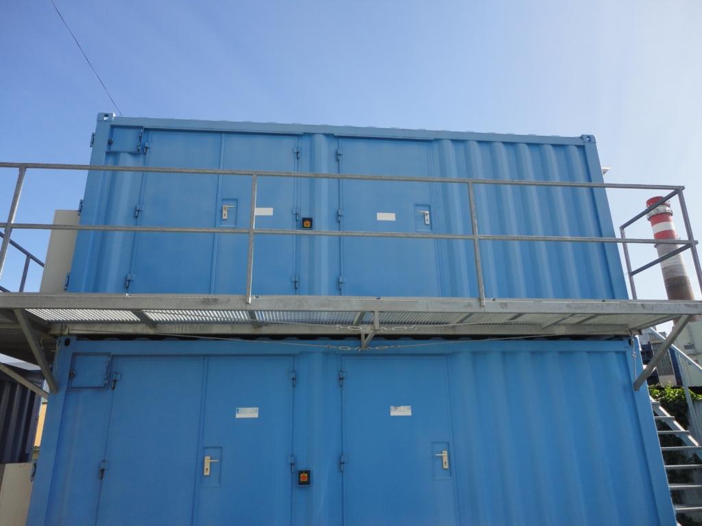 Kontejnery s motorgenerátory pro zálohu datacentra MasterDC v Brně