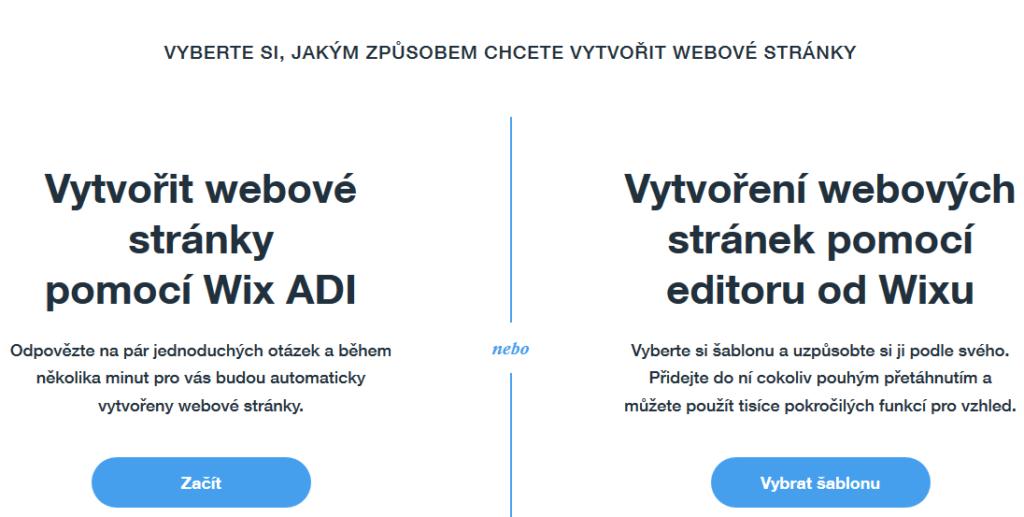 Wix recenze výběr editoru Wix ADI