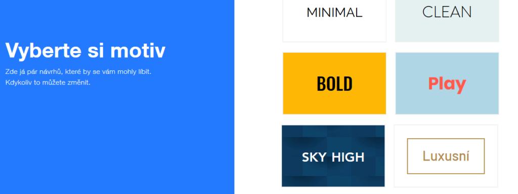 Wix recenze výběr motivu ADI