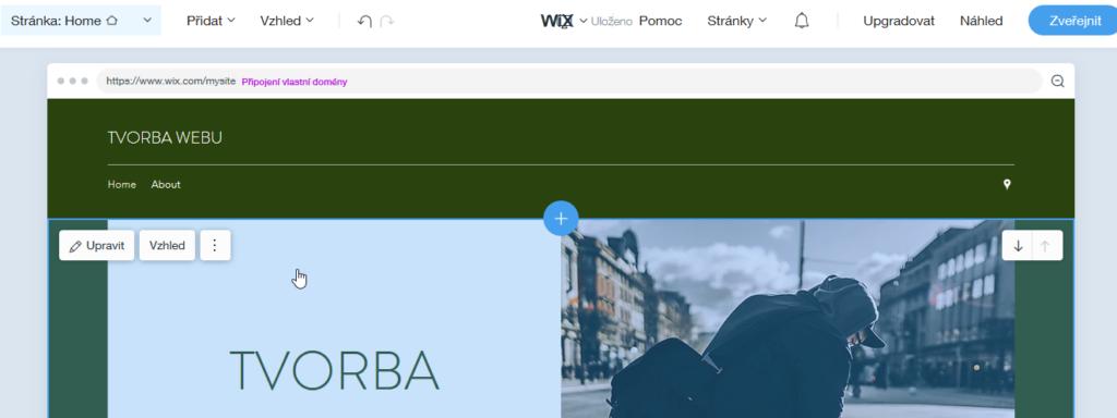 Wix recenze Wix ADI úprava stránky