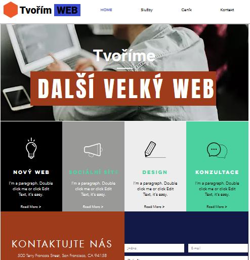 Wix recenze tvorba webu vytvořené webové stránky