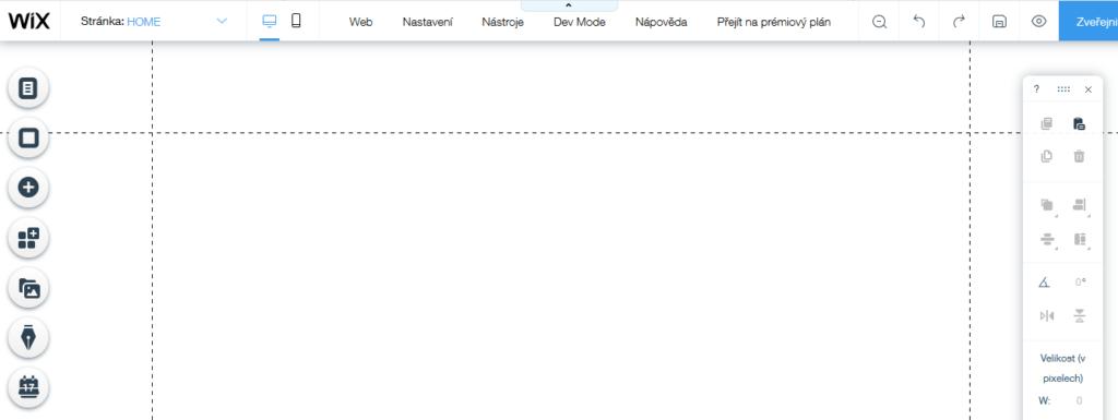 Wix recenze vlastní šablona