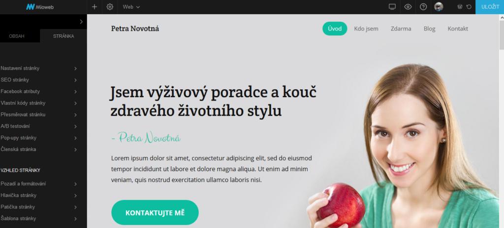 MioWeb recenze webové stránky