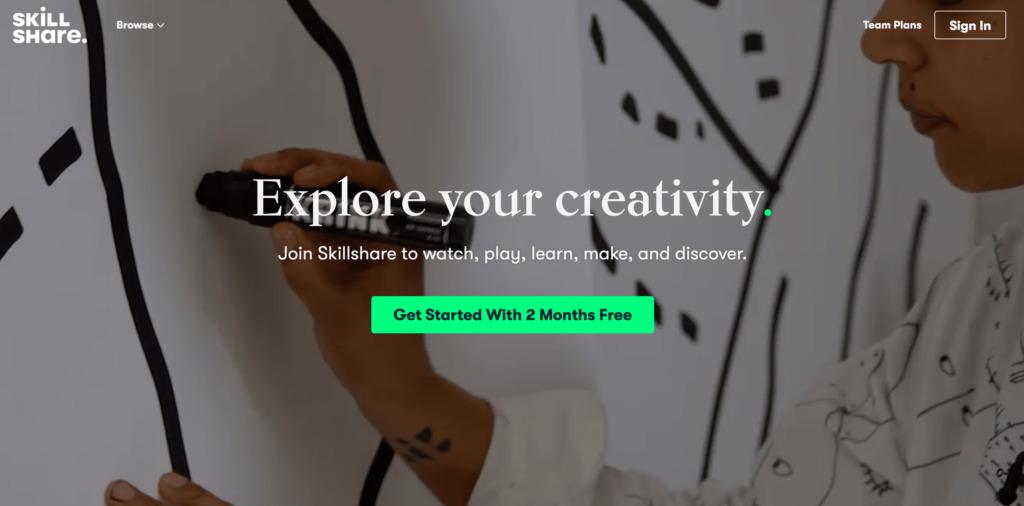 Online kurzy - Skillshare.com
