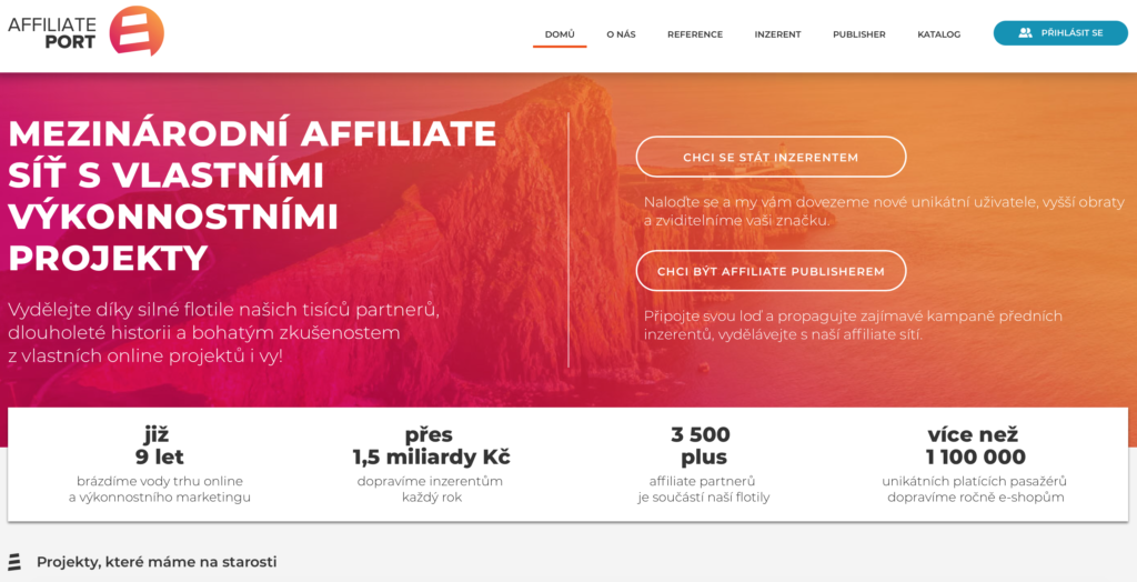 AffiliatePort.eu affiliate síť