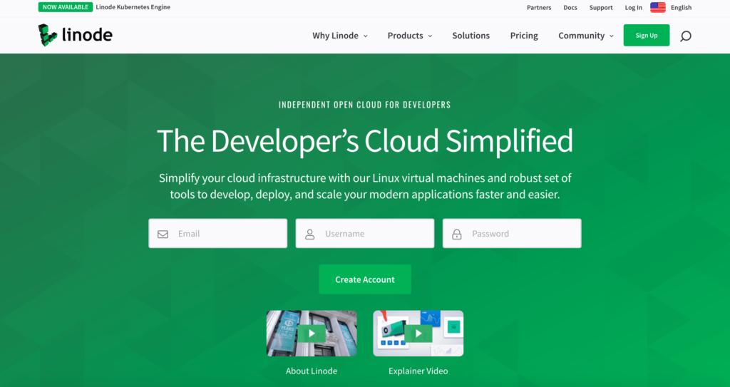 Linode.com hosting