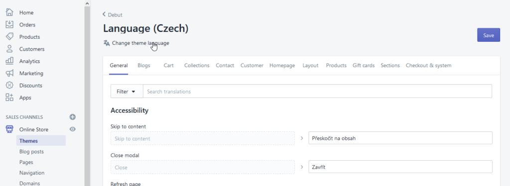 Recenze Shopify lokalizace do Češtiny