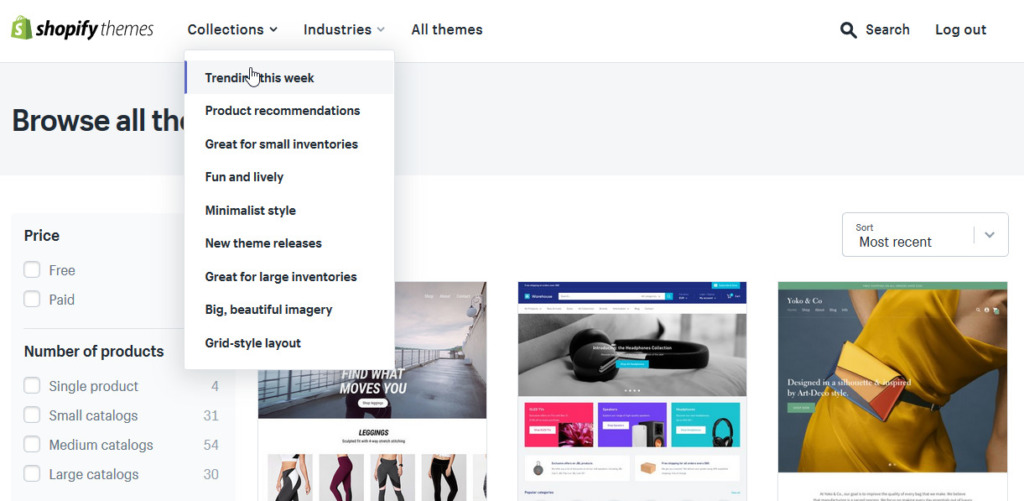 Recenze Shopify šablony