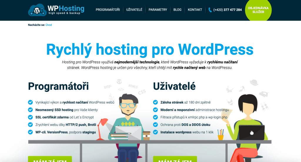 WP-hosting.cz hosting