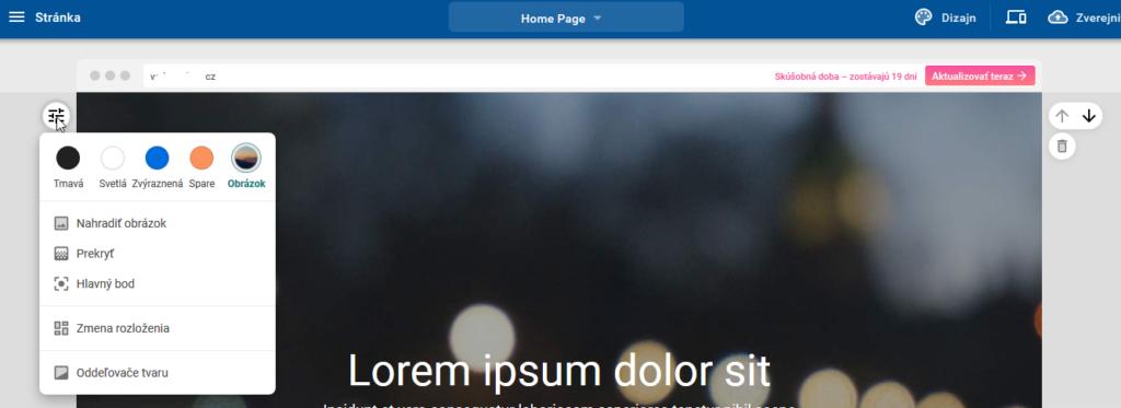 Recenze WebSupport Vlastní Webstránka - tvorba webstránek návod nastavení obrázku