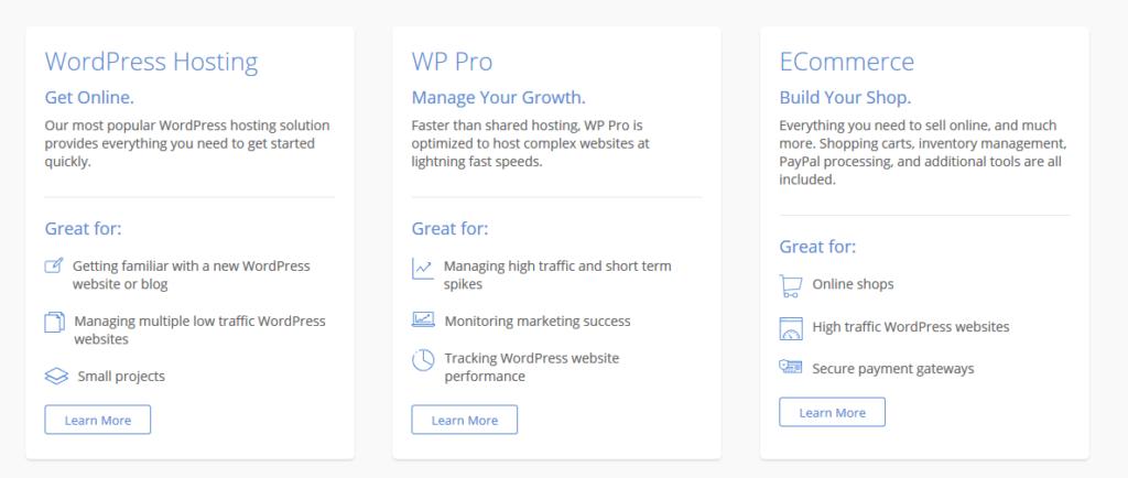 Recenze Bluehost nabídka WordPress hostingů