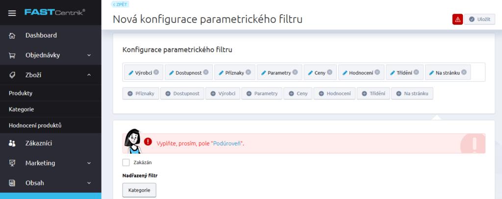 Recenze Fastcentrik nastavení SEO parametrické filtrování