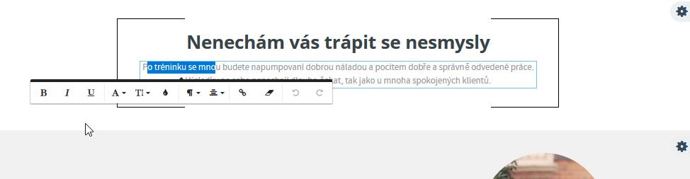 Recenze WEDOS Website úprava textu