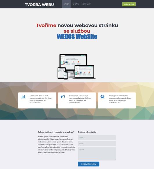 Recenze WEDOS Website tvorba webu finální webové stránky