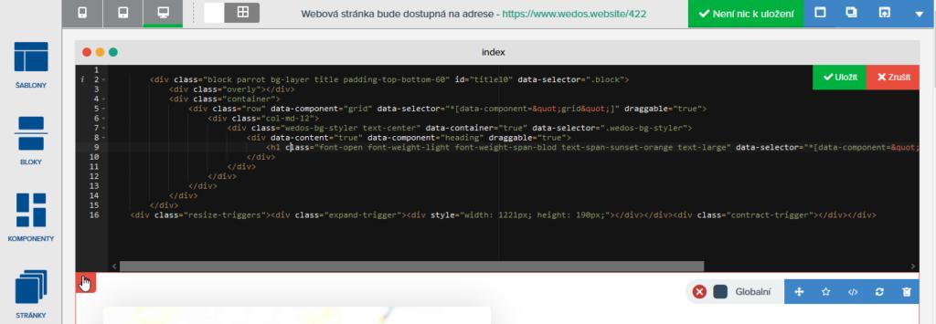 Recenze WEDOS Website úprava HTML stránky