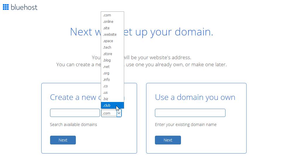 Recenze Bluehost objednání hostingu