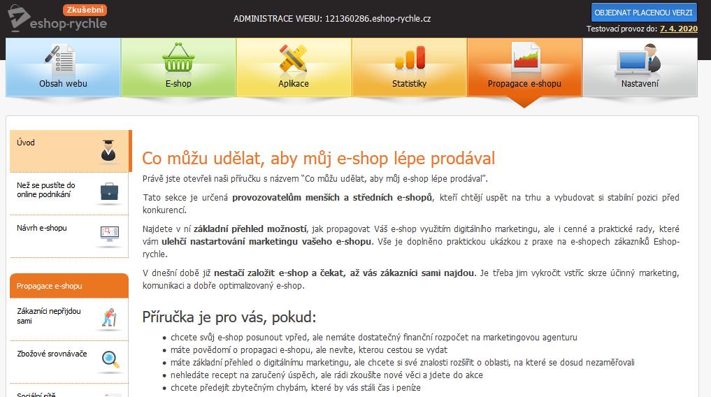 Recenze Eshop-rychle administrace propagace e-shopu