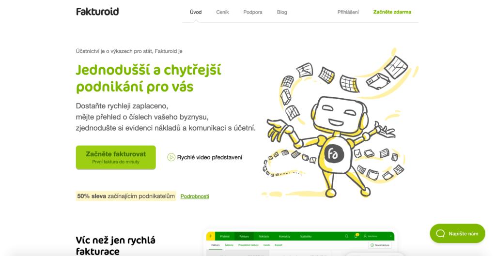 Fakturoid.cz fakturační nástroj pro firmy