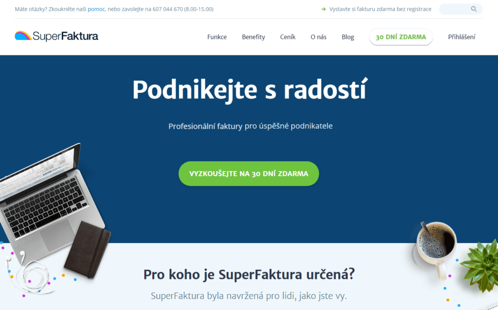 SuperFaktúra.cz fakturační nástroj pro firmy